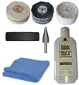 "Steel Polishing Kit 4"" x 1"" Wheel Kit - Drill Mounted Buffing"