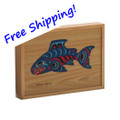 8 oz Smoked Salmon in Collectible Salmon Legend Wood Box ---- FREE SHIPPING