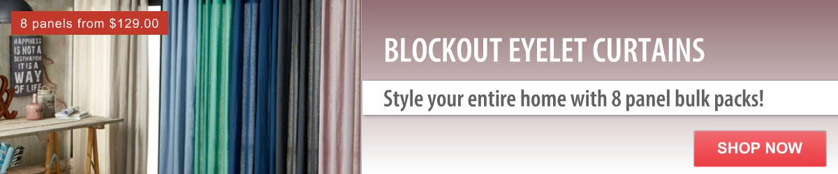 Blockout Eyelet Curtains I Style the entire house with 8 panels bulk packs