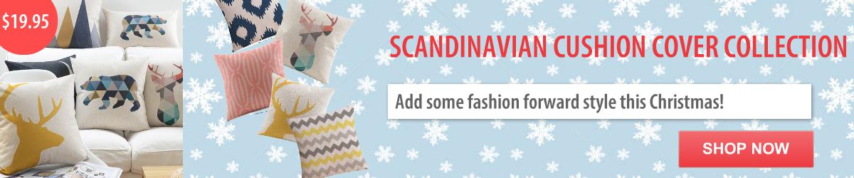 Buy Online Scandinavian Linen Cushion Covers
