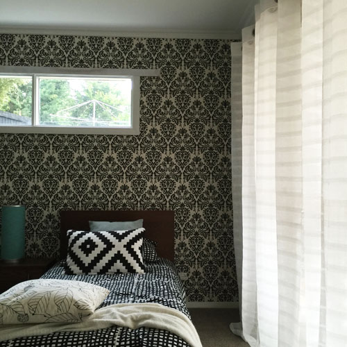 The Waldorf White Eyelet Curtains Used In A Home Makeover