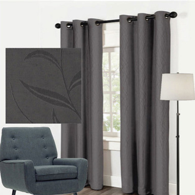 Buy Leaf Jacquard Blockout Curtains Online With Quickfit