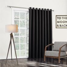 Bond black insulated eyelet curtain panels | 4 Sizes