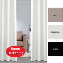 BOND Room Darkening Soft Drape Eyelet Curtains Avail in 2 Sizes EGGSHELL
