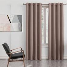250cm Drop Latte Blockout Eyelet Curtain Panel