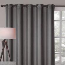 Charcoal Grey Blokout Eyelet Curtain Panel