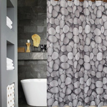 Shower Curtain and 12 Decorative Rings Hooks | Designer Pick