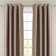 Villa Faux Silk Shantung Look Eyelet Curtain Panels | 4 Sizes