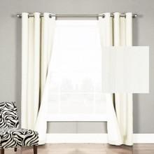 Chicago Stripe Ecu Eyelet Curtains   New