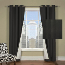 Chicago Stripe Black Eyelet Curtains | New