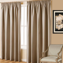 Villa Taupe Pencil Pleat Curtains | 4 Sizes