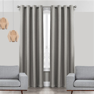 Linen Look Eyelet Curtains Shop Grey Eyelet Curtains