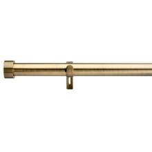 End Cap Extendable Curtain Rod Antique Brass Gold