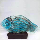 Legacy Handmade Glass Arts - Embeded Natural Colors - Antique  Decor - 007f