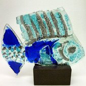 Legacy Handmade Glass Arts - Embeded Natural Colors - Antique  Decor - 002f