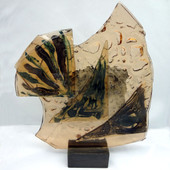 Legacy Handmade Glass Arts - Embeded Natural Colors - Antique  Decor - 003f