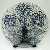 Legacy Handmade Glass Arts - Embeded Natural Colors - Antique  Decor - 124p