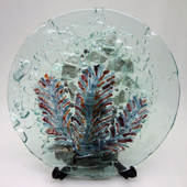 Legacy Handmade Glass Arts - Embeded Natural Colors - Antique  Decor - 134p