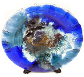 Legacy Handmade Glass Arts - Embeded Natural Colors - Antique  Decor - 154p