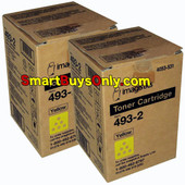 Oce Imagistics 493-2 Yellow Toner CM3520 CM3525 CM4520 CM4525 2Pack
