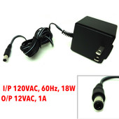 New AC Adapter, I/P 120VAC, 60Hz, 18W, Out/Put 12VAC, 1A, AA-121A