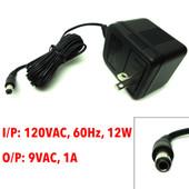 OEM AC Adapter 120VAC, 60Hz, 12W, 9VAC, 1A, AA-091A, 30-112-000002B