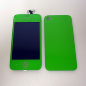 Color Apple iPhone 4 One Set LCD Display Screen and Back cover Green