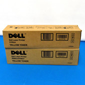 Dell P6731 CT200574 Yellow Toner Set 3000CN 3100CN 3000 {lot of 2}
