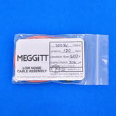 "Meggitt Endevco 3053V-120, 120"" 500˚F Cap. 306 pF Low noise high impedance differential Cable Assembly"
