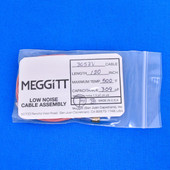 "Meggitt Endevco 3053V-120, 120"" 500˚F Cap. 309 pF Low noise high impedance differential Cable Assembly"