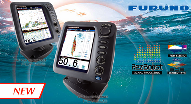 Introducing the ALL new Furuno FCV 628 LCD color sounder