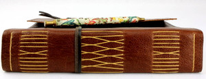 Majestic At Leather Journal features double the pages. And Double the beautiful hand stitching on the spine. Pen shown for display purposes only and is not included.