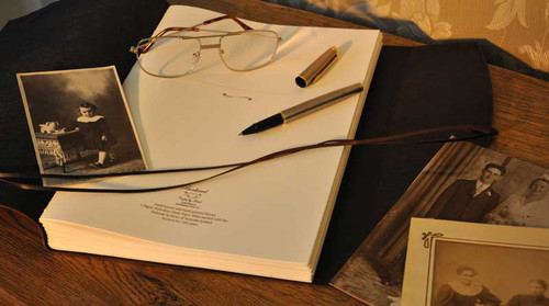 Create a family heirloom with a handmade leather journal.