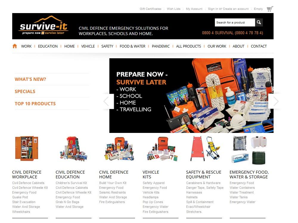 Survive-it eCommerce Web Site