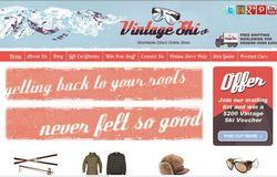 Vintage Ski E-commerce Website