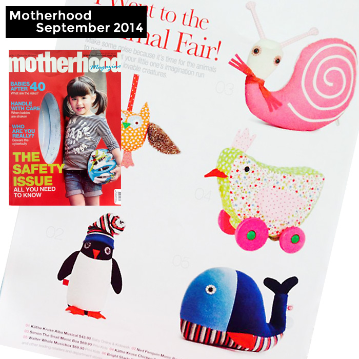 PriviKids featured in Motherhood magazine (September 2014)