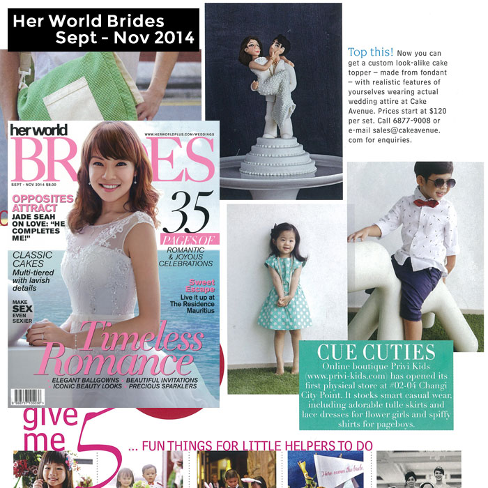 PriviKids featured in Her World Brides magazine