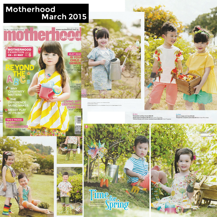 PriviKids featured in Motherhood magazine (March 2015)