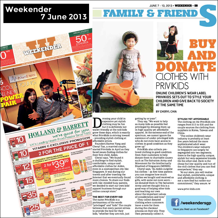 Weekender Feature on PriviKids