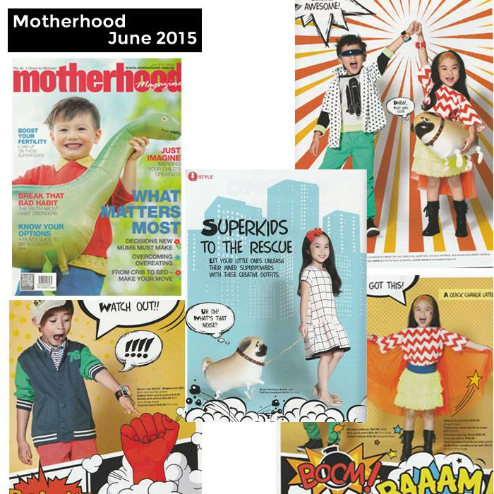 PriviKids featured in Motherhood magazine (June 2015)