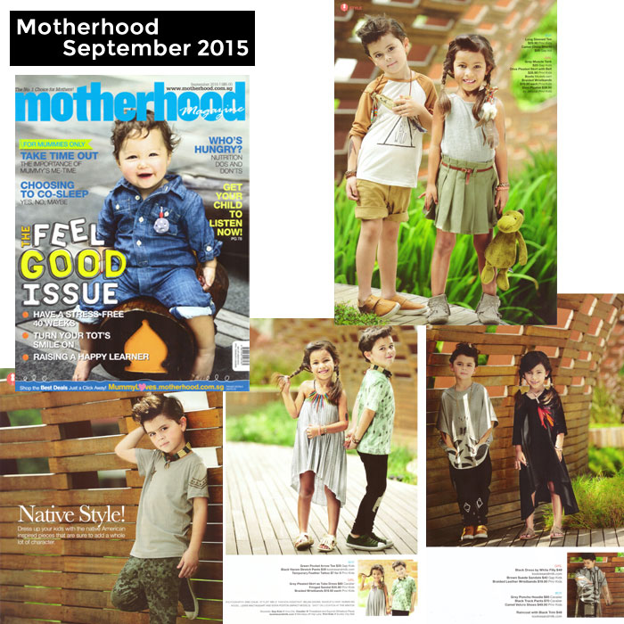PriviKids featured in Motherhood magazine (September 2015)