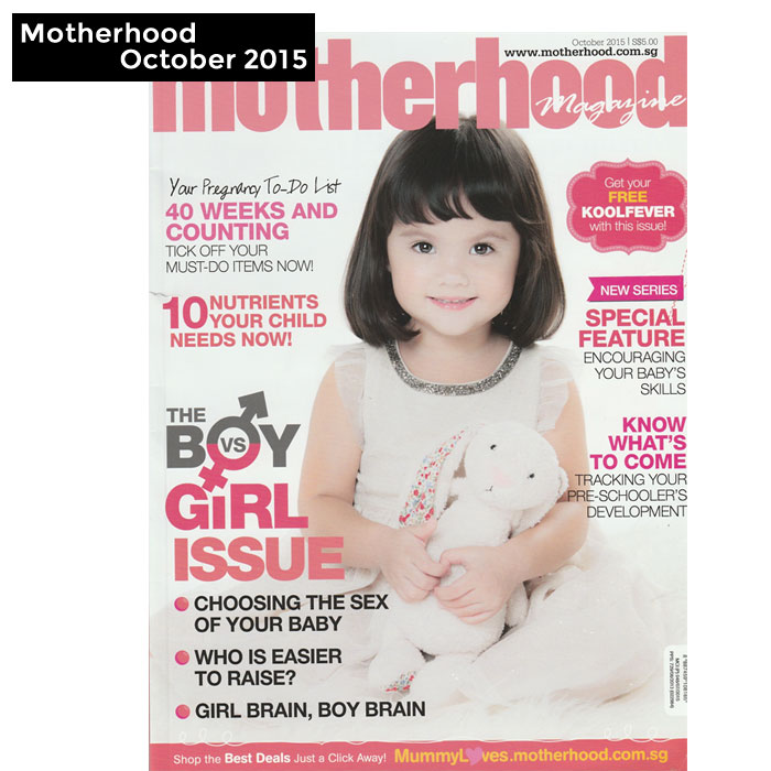 PriviKids featured in Motherhood magazine (October 2015)