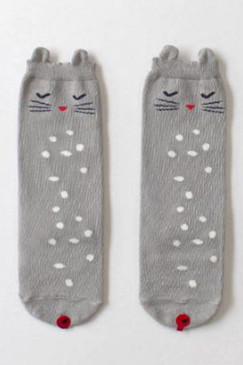 Shy Cat Knee High Socks
