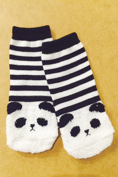 Mini Dressing Panda Socks Stripe
