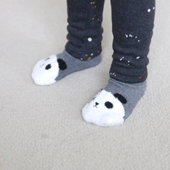Mini Dressing Panda Socks Grey