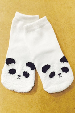 Mini Dressing Panda Socks White