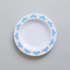 Happy Clouds Plate Blue