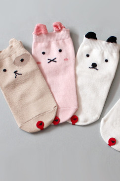 Animal Fun Socks (Set of 3 pairs)