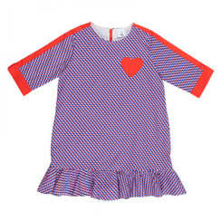 Frill Panel Dress Heart Shape