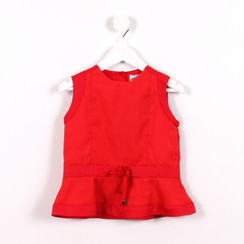 Sporty Peplum Top Red